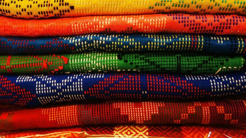 Fabrics. Colorful Colors Rainbow Colors Colorful Fabric Fabrics Fabric Detail Fabric Design Fabric Art Colorful Design Fabric Prints Eyeem Photography Eyeem Philippines The Week On EyeEm Fabric Pattern Bazaar Fair Clothing Colors Colored Fabric