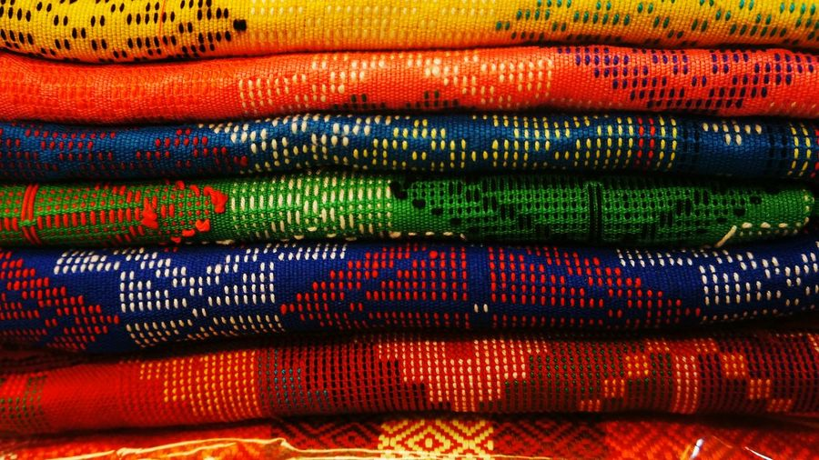 Fabrics. Colorful Colors Rainbow Colors Colorful Fabric Fabrics Fabric Detail Fabric Design Fabric Art Colorful Design Fabric Prints Eyeem Photography Eyeem Philippines The Week On EyeEm Fabric Pattern Bazaar Fair Clothing Colors Colored Fabric