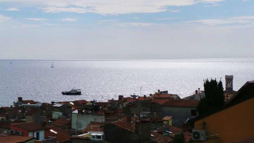 Slovenia Piran Old Town Roofs Sea Sea And Sky Summer Check This Out Hanging Out Enjoying Life Seeing The Sights