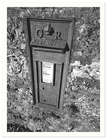 Cast Iron Day Hole In The Wall Last Post No People Outdoors Post Box  Red