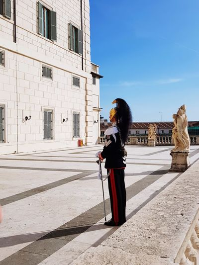 2 giugno 2018 Festa della Repubblica italiana, inside the President's palace Portrait Event Esclusive Entrance Quirinale Italian Guard Guard Presidential Palace Presidential Guard Institutional Comforts Top Terrace Corazziere City Full Length History Architecture Sky Visiting International Landmark Tourism Famous Place Tourist Attraction  Historic Building The Portraitist - 2018 EyeEm Awards Summer In The City EyeEmNewHere This Is Strength The Modern Professional