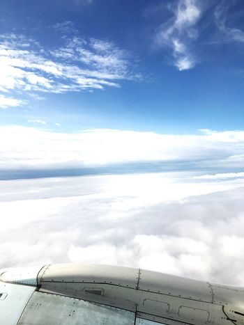 Up above the clouds! Clouds And Sky Plane Flying High Vacation Time Looking Out The Window Clouds Taking Photos