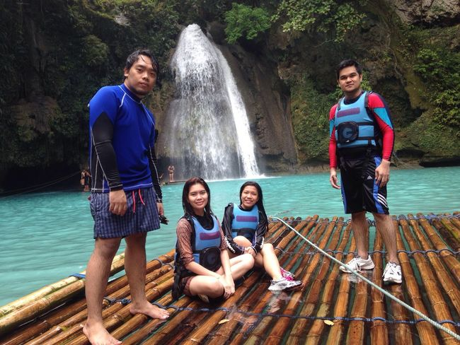 My Year My View Our Kawasan Falls Adventure will always be a Happy memory. Vacations Eyeem Philippines Travel Destinations Travel Vacation Outdoors Cebu Cebu City Philippines Travel Photography Water Nature Beauty In Nature Leisure Activity Excitement Cebu City, Philippines