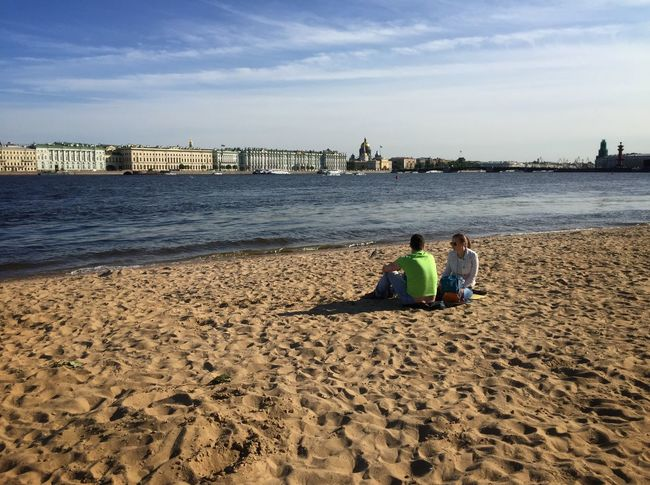 A beach on Zayachy Island in St Petersburg Streetphotography Traveling Rus2015tc