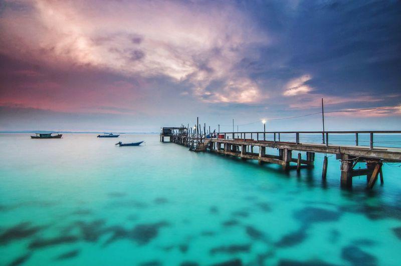 Jetty Pulau Tinggi Mersing Johor Malaysia Island Seascape Beachphotography Island Nikon Sunrise Water Sky Sea Cloud - Sky Scenics - Nature Beauty In Nature Transportation Horizon Over Water Travel Sunset Nature No People