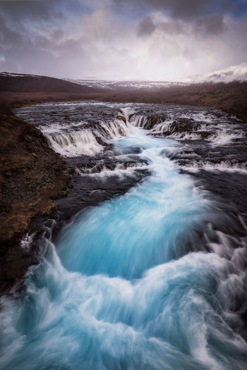 Bruarfoss Beauty In Nature Water Scenics - Nature Sky Motion Nature Sea Power In Nature Long Exposure Flowing Water Blurred Motion Environment Power Waterfall No People Iceland