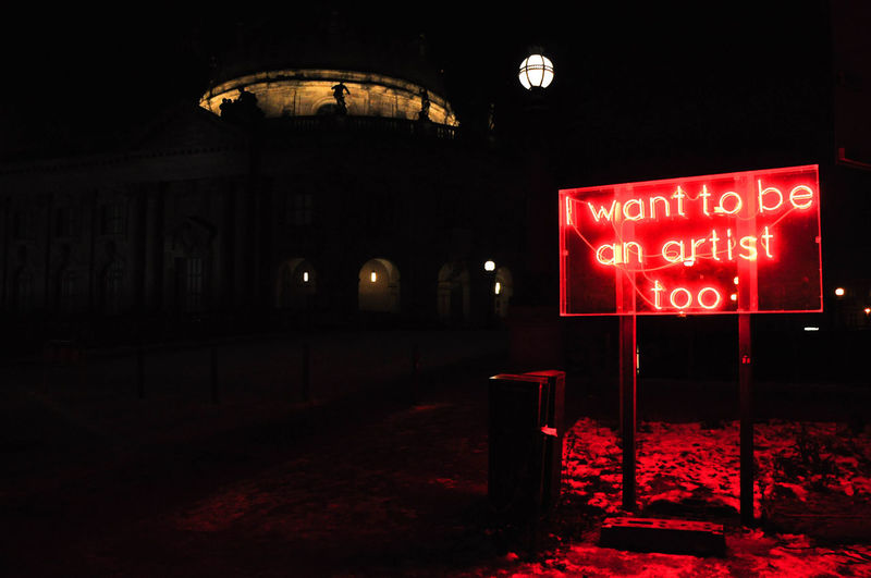Artist Artsy Berlin Night Red