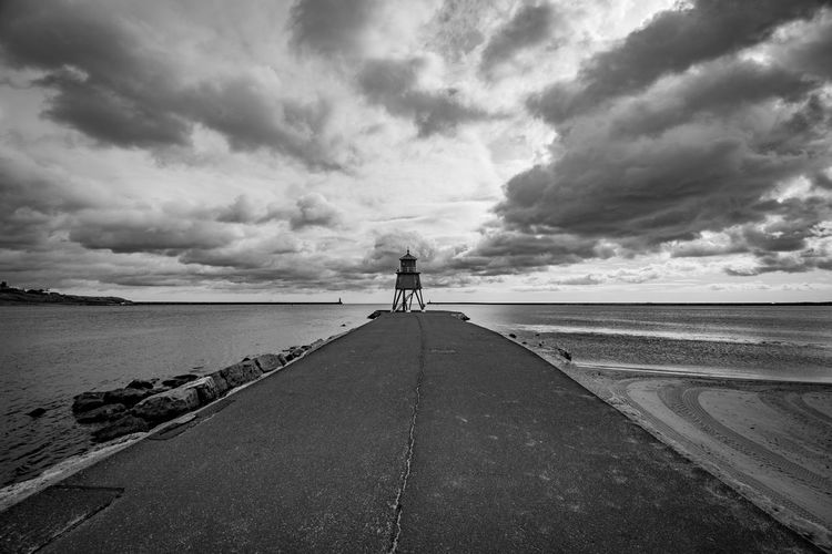 Water_collection Beach Lighthouse Pier Perspective Sea And Sky Seascape Eye4photography  EyeEmBestPics Landscape_Collection EyeEm Best Shots Sky And Clouds Skyporn Blackandwhite Photography Clouds And Sky Blackandwhite Black & White Sky_collection Cloud - Sky Sky Real People Nature Water Horizon Sea