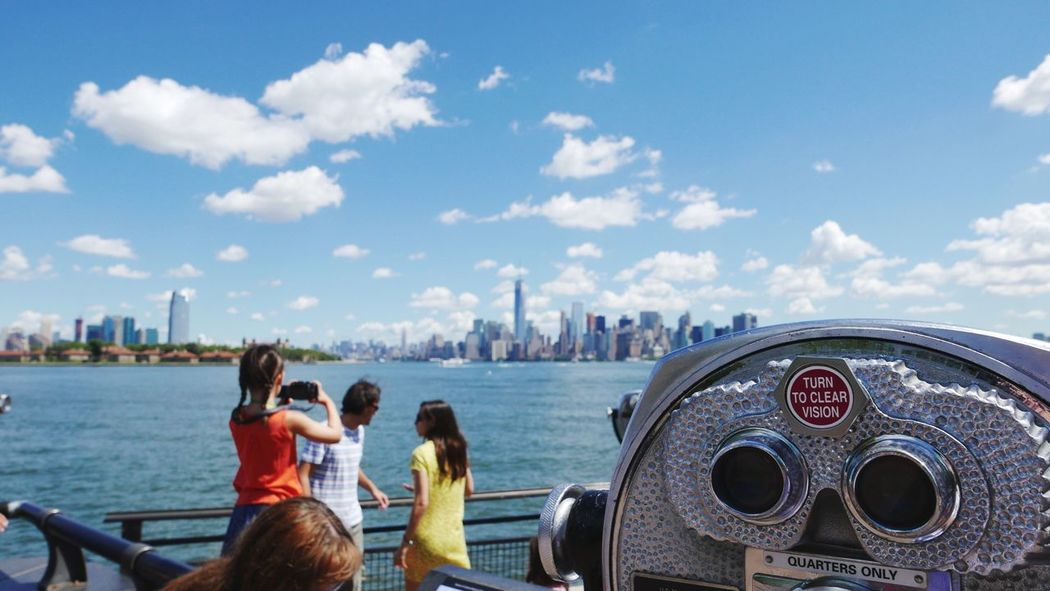Liberty Island onlook Cloud - Sky Tourism International Landmark Outdoors Lumix Lx100 Travel Cityscape Adapted To The City
