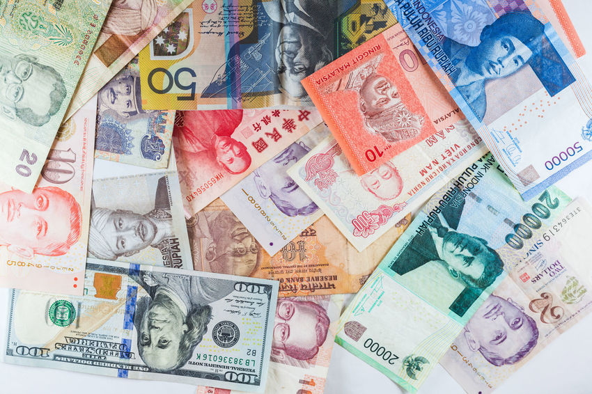 Multiple Currencies banknotes as colorful background showed the global money financial business economy crisis Currencies Currency Money Money Money Busniness Coin Currency Notes Currency Symbol Noted