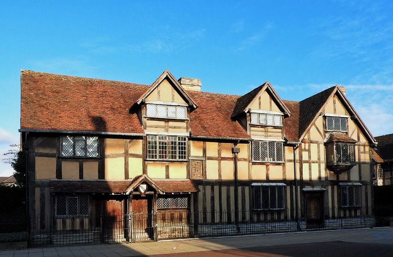 Architecture Birth Place Blue Sky Building Exterior Day Deterioration Famous Famous Place Historic No People Old Old Buildings Roof Stratford-upon-Avon William Shakespeare Window