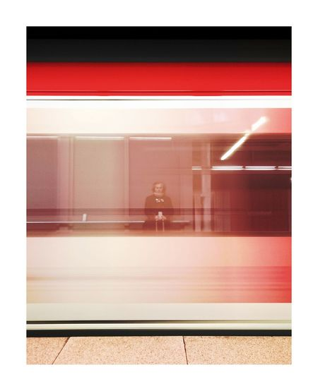 Red Transportation The Street Photographer - 2017 EyeEm Awards Street Photography City Urbanphotography On The Road Mobilephotography Stuttgartmobilephotographers Urban Streetphotography Built Structure On The Run In The Move Color Photography City Life Taking Photos Public Transportation Stuttgart Self Portrait Traveling Train Reflection_collection Reflection Reflections