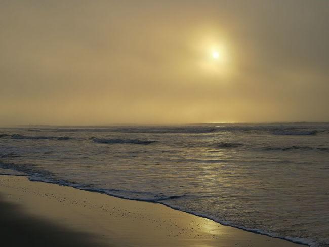 Perequê Açu Ubatuba - Litoral Norte - SP Winter Beach Beauty In Nature Foggy Morning Horizon Over Water Moon Nature No People Outdoors Sand Scenics Sea Sky Sun Sunset Tranquil Scene Tranquility Water