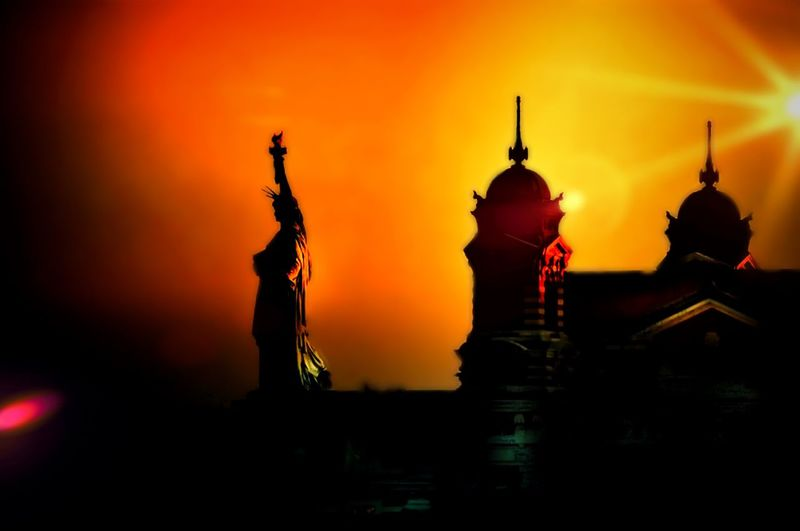 The sun never sets on Lady Liberty Statue Of Liberty Sunset New York Statue United States Orange Sunset_collection New Jersey Getting Creative EyeEm Best Shots Statues Statueofliberty Statue In The City Liberty Liberty Island Libertyisland Land Of Liberty Ellis Island  EyeEm Best Edits EyeEm EyeEm Gallery Silhouette Patriotism Backlight Backlit TakeoverContrast
