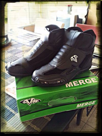 Just got these in the mail today. 8-18 Check This Out Motorcycle Boots Ride Or Die Thats Mine