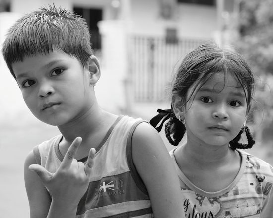 A protective big brother.. Place Of Heart Portrait Childhood Looking At Camera People The Portraitist - 2017 EyeEm Awards Peaceout✌ PreciousMoments The Portraitist - 2017 EyeEm Awards