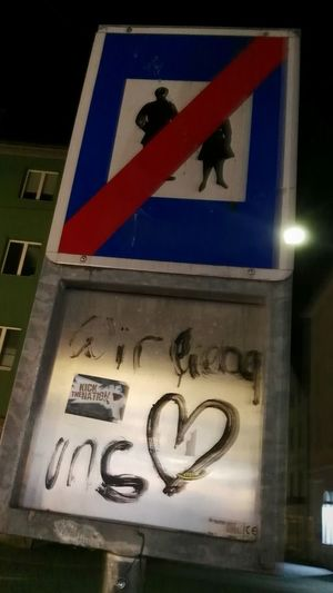 Stop By The Way... Wir Lieben Uns 💞 Stopschild Stop We Love Us 💟 Sign Of Stopping