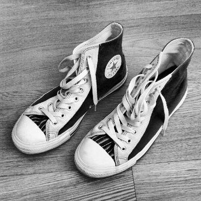 My All Star Bw Allstar MomentsBySanto Wooden Floor Footwear Menswear Wooden
