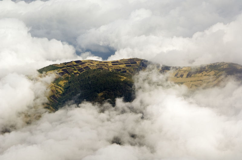 Agriculture Beauty In Nature Cloud Cloud - Sky Cloudscape Cloudy Ecuador Fields Idyllic Mountain Nature No People Non-urban Scene Overcast Quito Scenics Sky Tranquil Scene