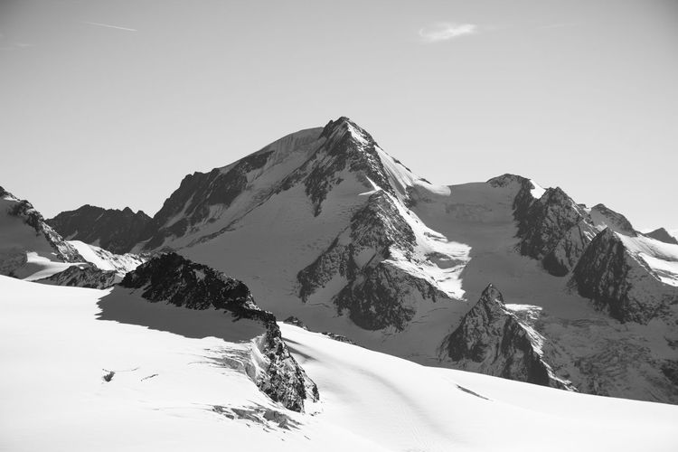 Hiking Beauty In Nature Black And White Clear Sky Cold Temperature Day Glacier Landcape Landscape Monochrome Mountain Mountain Range Nature No People Non-urban Scene Outdoors Scenics Sky Snow Snowcapped Mountain Sunlight Tranquil Scene Tranquility Weather Winter