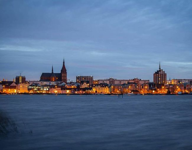 Cities At Night Photo of the City of Rostock Rostock City First Eyeem Photo