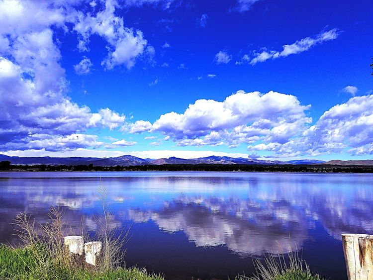 Afternoon Sky ReflectionsLake Loveland The Essence Of Summer Amazing View Northern Colorado Skies NaturalBeauty Blue Wave Nice Day For Drive Water Reflections Water_collection Water - Collection Loveland Colorado
