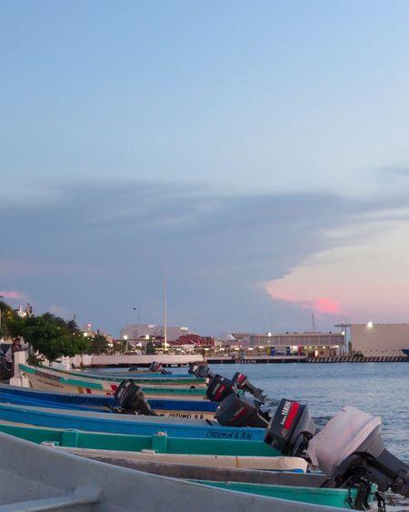 Cozumel series    Cozumel Mexico Visitcozumel Boats Sunset Island Island Life Photography Photooftheday Colors View