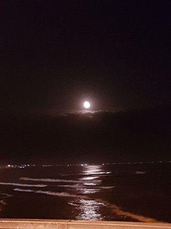 Sea Beach Scenics Water Moon Beauty In Nature Night Reflection
