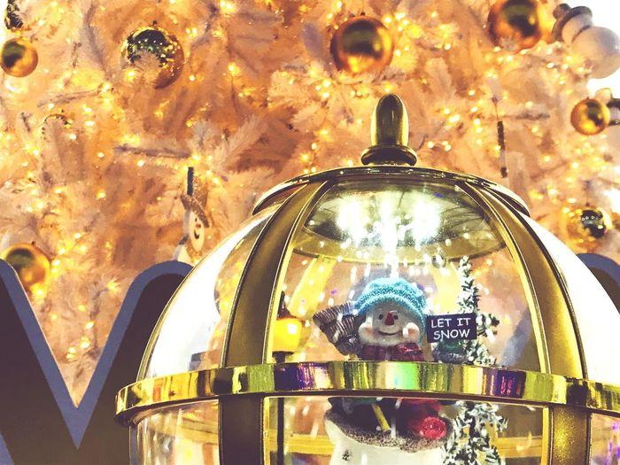 Christmas time Lighting Chirstmas Tree Snowman⛄ Celebration Chirstmas