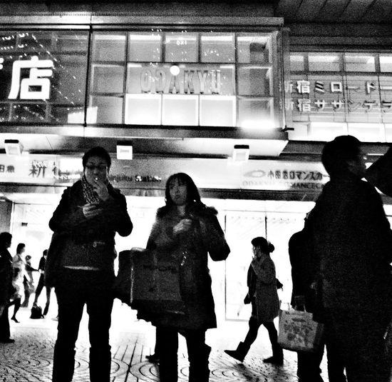 Night Streetphotography_bw 新宿区
