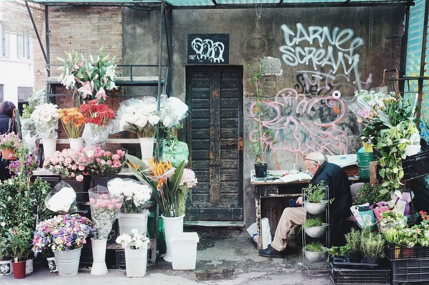Floral Small Business Heroes Rome Rome Italy Streetphoto Streetphotography Lensonstreets Photoobserve InterCollective Rawstreetphotogallery Life_is_street Lensculturestreet Fromstreetswithlove Myspc Eyeshotmag Documentary Streetphotographer Store Retail  Choice Flower Multi Colored Small Business For Sale Variation Architecture Building Exterior Flower Market Marigold Market Stall Street Market Flower Shop Graffiti Street Art
