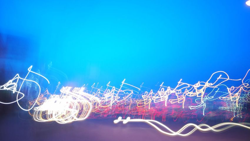 NoFilter, Multi Colored Illuminated No People Electricity  Blue Sky Lighttrails HuaweiP9