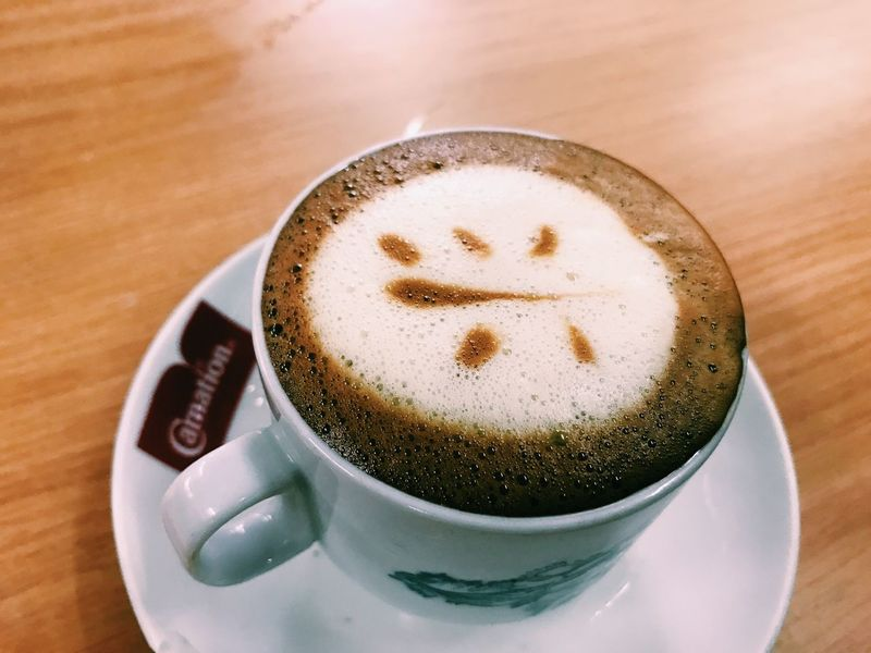 traditional coffee with chinese word latte art Coffee - Drink Drink Coffee Cup Frothy Drink Refreshment Food And Drink Still Life Table Close-up Cappuccino Saucer Froth Art No People Indoors  Freshness Day Traditional Latteart Chinese Words Heng Coffee Shop