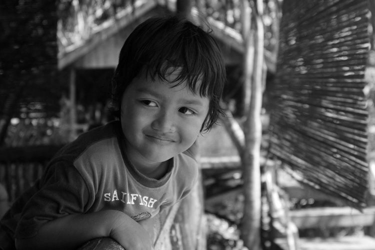 Childhood Child One Person Focus On Foreground Casual Clothing Real People Boys Smiling Innocence Day Headshot Outdoors Leisure Activity Black And White My Best Photo