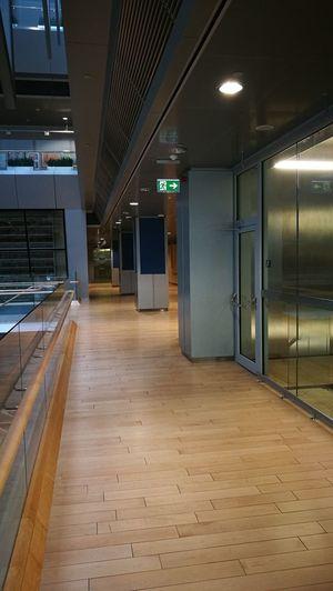 Latvian National Library Gaismaspils Library Public Building Hallway Wood Floors Collumns The OO Mission