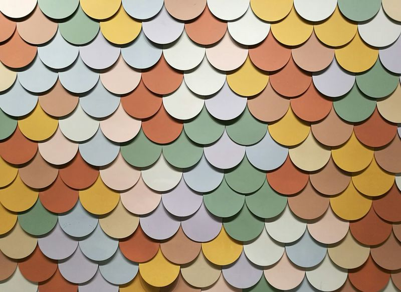 Dots Dots Dots Dots Multi Colored Yellow Backgrounds Gold Colored Pattern Variation Full Frame Gold In A Row Close-up Shape Decorative Art Colored Pencil Circle Group Circular Repetition Geometric Shape