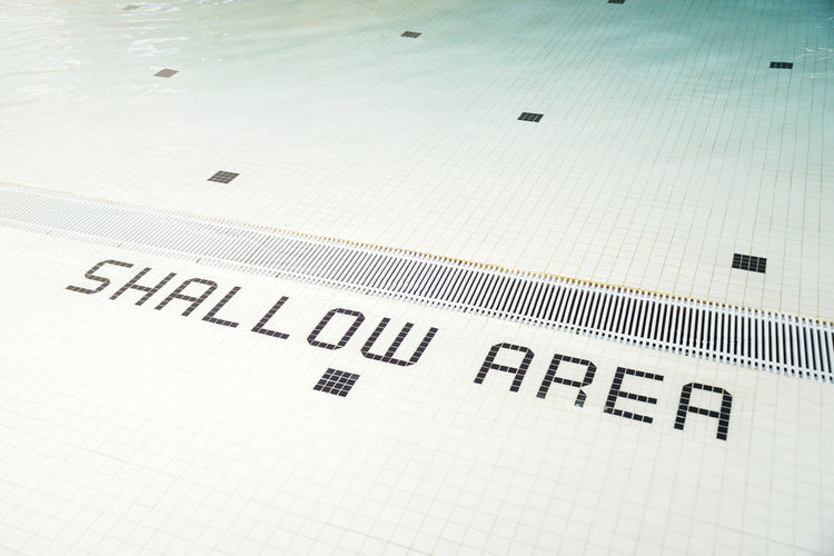 Sign Signs Swimming Typography Font Information Information Sign Kids Pool Saftyfirst Shallow Shallow Water Signs, Signs, & More Signs Signs_collection Swimming Pool