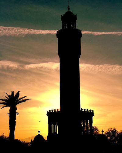 izmir Cloktower Sunset Silhouette History Travel Destinations Cloud - Sky Sky Architecture City Tree Building Exterior Nature No People Old Ruin Memorial Architectural Column Night Ancient Outdoors Built Structure