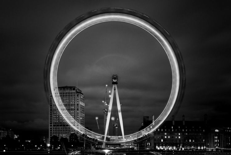 Cityscape London City Illuminated Blackandwhite Blackandwhite Photography Architecture Sky Landmarks Longexposure Citylights Urban Urban Geometry