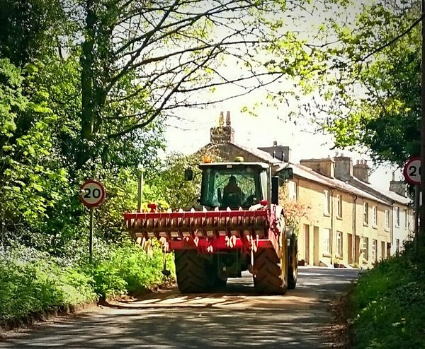 Taking Photos Rural Scenes Countrylife Country Road Tractor Tractors Outdoors Nature Beauty In Nature Tranquility Houses Cottages Shadows Natural Pattern Residential Building Cotswolds Undergrowth Shadows & Lights