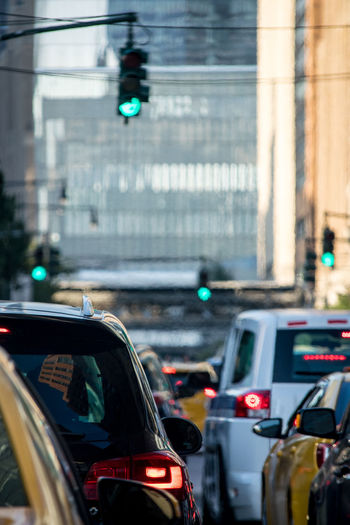 Stand Still Traffic In New York Car Brakes Connected By Travel Taxi Architecture Brake Lights Brakes Car Cars Stopped City City Traffic Day Green Lgiht Green Light Land Vehicle Mode Of Transport Outdoors Red Lgi Road Shuttle Bus Stand Still Traffic Stop Street Traffic Transportation Mobility In Mega Cities