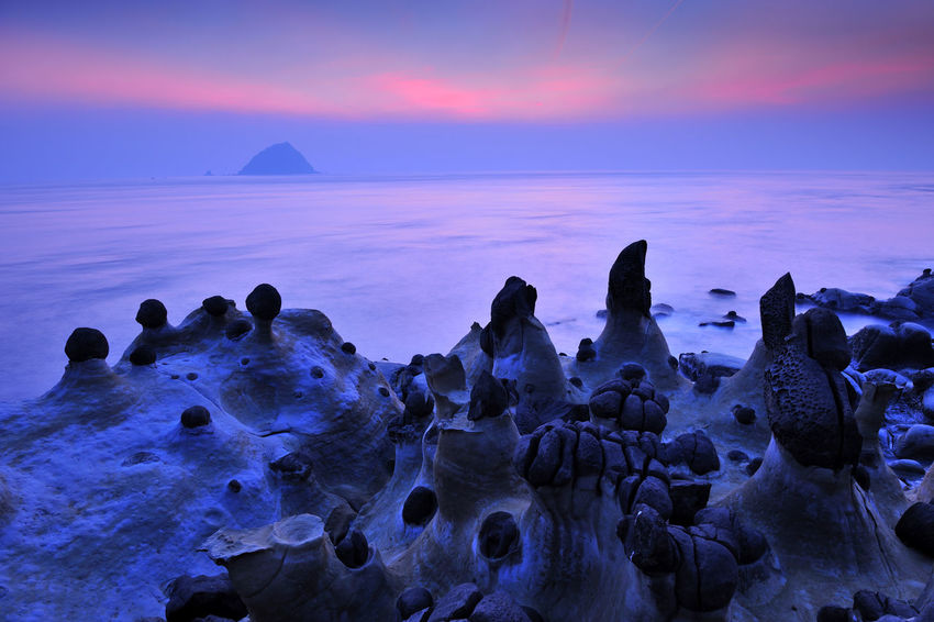Rocks along the coast, a variety of shapes, like a beautiful painting Islands Peace Rock Astronomy Beach Beauty In Nature Close-up Coastal Day Early Morning Horizon Over Water Keelung Nature No People Outdoors Rock - Object Scenics Sea Sky Sunrise Sunset Tranquil Scene Tranquility Water Weathering