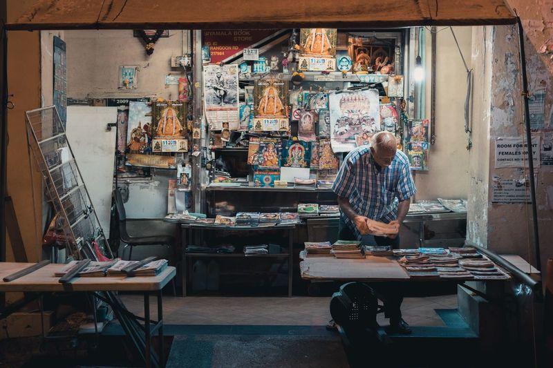 Man working in shop