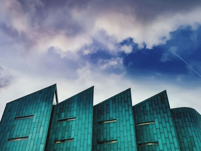 Blues and Turquoise Sheffield Sheffieldissuper Sheffunilife Library Building Abstract Sky Architecture Building Exterior Built Structure Block Shape Cube Shape Tall - High Skyscraper Urban Skyline Tower Sky Only
