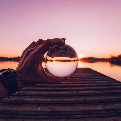 Crystal sunset. Crystalball Ball Glassballphotography Glassball Visualsgang Creative Creativity Italy Lombardia Varese EeYem Best Shots February 2016 Colours Sunset Inspirational Inspiring Avwm Rethink Things