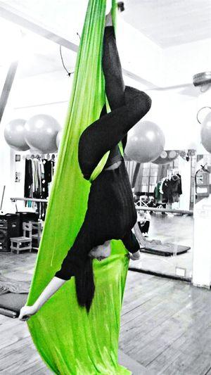 Batgirl Aerial Silks Love Green Body & Fitness Today (:  Me