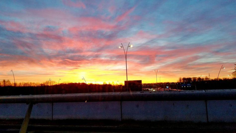 Vanochtend was het mooi onderweg naar Eindhoven