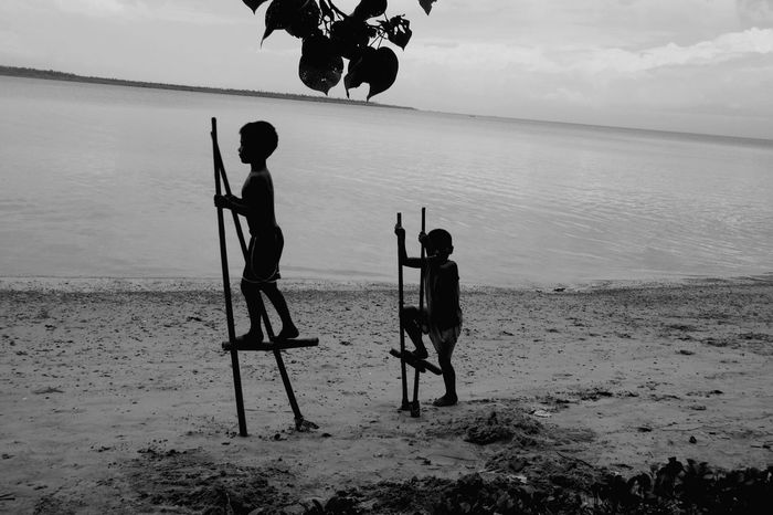 Simple things Black And White Happiness Polillo Island