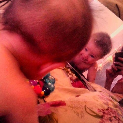 мой_малыш сыночек зеркало улыбаемся отражение играемся ♥
