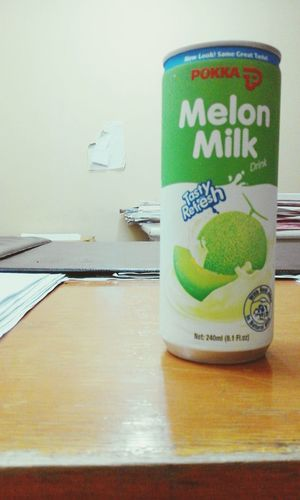 ..forever favourite refreshment. :P <3 Pokka Melon Milk Satisfying Heymonday Hi There Have A Nice Day!